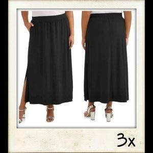🎆 Super Soft Elastic Waistband Knit Maxi Skirt
